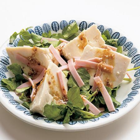 寄せ豆腐の洋風マスタードサラダ