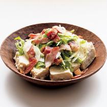豆腐ベーコンオニオンサラダ
