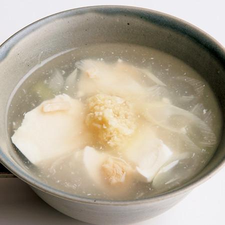 豆腐と帆立のしょうがスープ