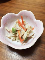 授乳期おかず♪根菜とツナの胡麻マヨ和えの写真