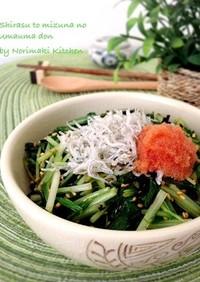 簡単&お手軽☆しらすと水菜のウマウマ丼