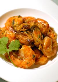 魚貝類Spicyエスニック風オーブン焼き