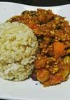 スパイスから作る鶏挽肉と豆のキーマカレー