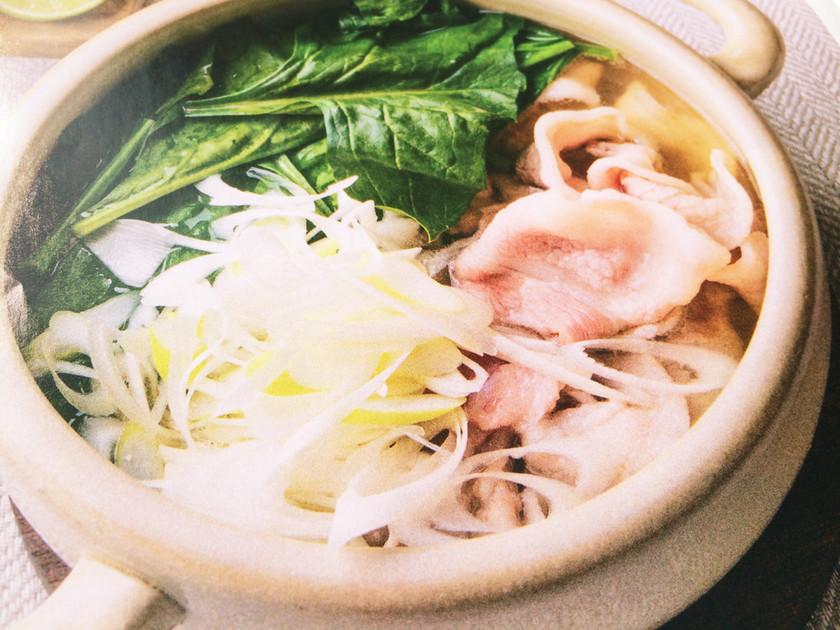 常夜鍋♪豚バラ&ほうれん草の鍋