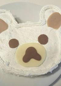 牛乳パック型で☆簡単コリラックマケーキ☆