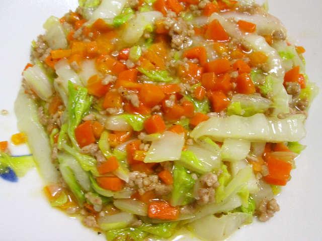白菜 ひき肉 あんかけ