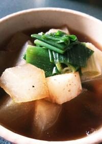 薬膳♪冬瓜と長芋とネギのスープ