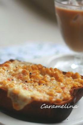朝の定番*チーズコーントースト