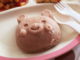 離乳食おやつ。レンジでココア蒸しパン