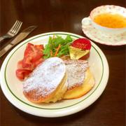 ふわしゅわ厚焼きスフレパンケーキの写真