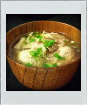 ■糖質制限■鶏団子きのこスープ簡単減量鍋