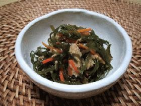 ∽∽中性脂肪撃退レシピ 刻み昆布とツナの炒め物∽∽