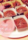 簡単生チョコ風カップケーキ
