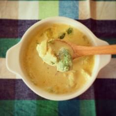 ♩アボカド玉ねぎのカレークリームスープ