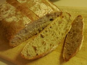 低温発酵&高加水率(70%)のパン