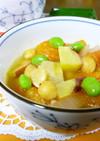トマト・ひよこ豆・さつまいものスープ♪