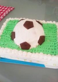 サッカーボール デコレーション ケーキ!