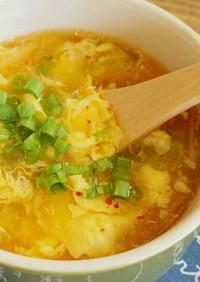 ☆簡単☆キムチとふわふわ卵のスープ