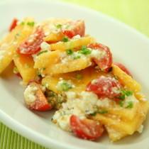 柿とトマトのカッテージサラダ