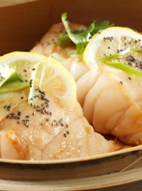 チアシードを使った蒸し魚