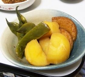 モロッコいんげんとジャガ芋と平天の煮物
