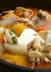 カボチャが美味しいチゲ気分鍋