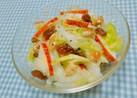 白菜と林檎のサラダ*胡桃&レーズン入り♡