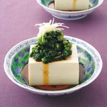 つるむらさきの豆腐サラダ
