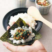モロヘイヤのネバネバ健康手巻き寿司