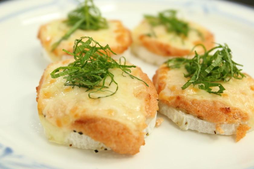 ジネンジョのチーズ焼き