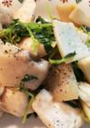 鶏ささみと豆苗のにんにく塩炒め