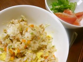 【幼児食】野菜たっぷりツナチャーハン
