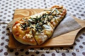 ナンちゃってピザ③もち明太ツナマヨ