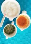 離乳食中期 納豆オクラ  桃