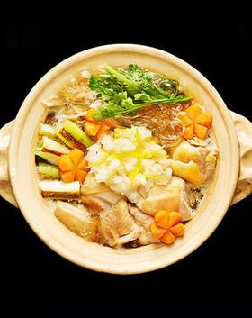 焼きねぎの鶏ごぼう鍋