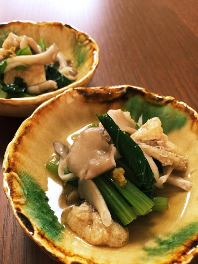 【白だしで簡単】舞茸と小松菜の出汁びたし