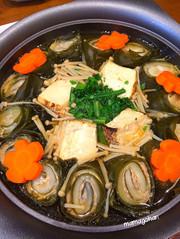 昆布の豚肉白菜ロール鍋の写真