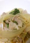 水菜と玉ねぎのシャッキリ煮