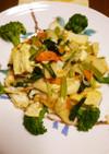 焼き豆腐と海鮮&彩り野菜の中華炒め♪
