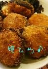 食べやすい(^^♪鮭のしいたけフライ♪♪