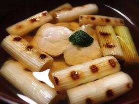 冬のダイエットに、鶏ささみの焼きねぎ清汁