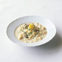 ほたて貝とカリフラワーのスープ
