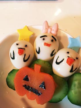 うずらの卵でオバケ♪お弁当ハロウィン♪