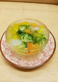 茶碗蒸しの野菜あんかけ