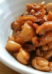簡単☆ご飯のお供に♪鳥皮と生姜の甘辛炒め
