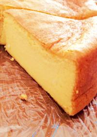 スライスチーズ2枚で!スフレチーズケーキ