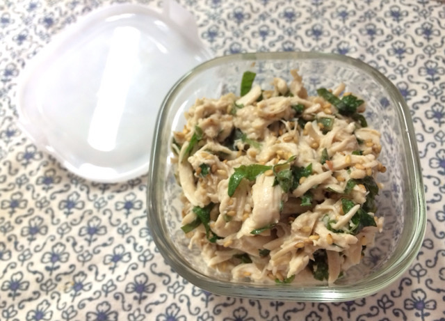 鶏ささみと大葉の梅肉和え〜my常備菜1〜