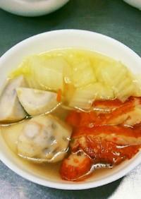 簡単節約祖母の小芋と白菜&天ぷら煮付け