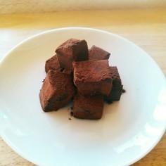 パパでも簡単。濃厚豆腐生チョコ(^^)