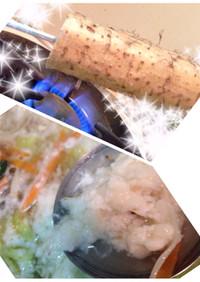 もやしと☆ヒゲ焼自然薯シャキシャキ元気鍋